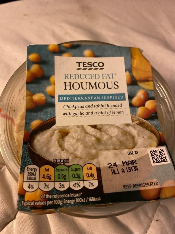 Reduced fat houmous