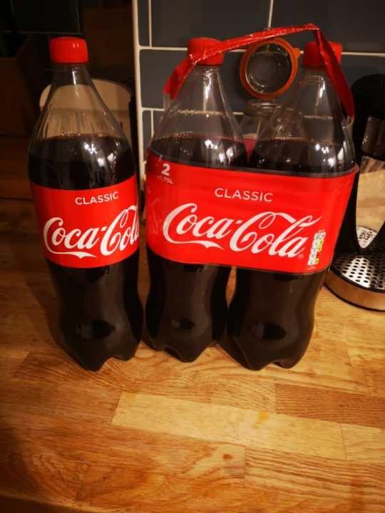 3 bottles 1.75l Coca Cola