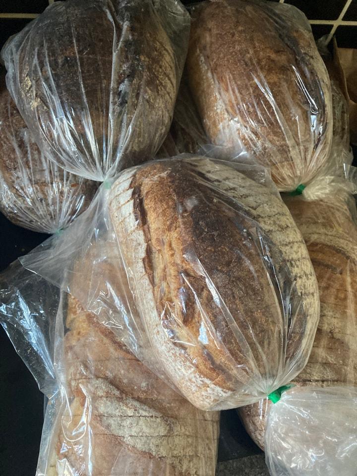 Flour pot mixed sliced loafs