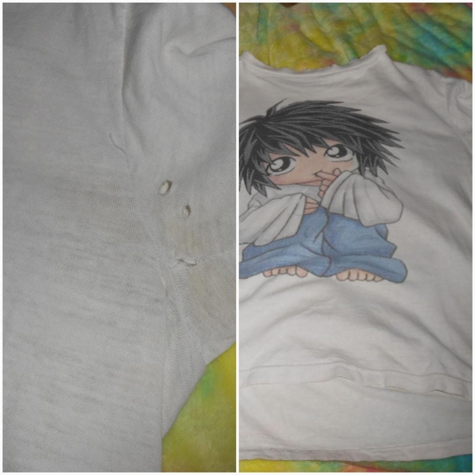 Hola amigos regalo blusa de L DEATH NOTE chibi mediana mujet