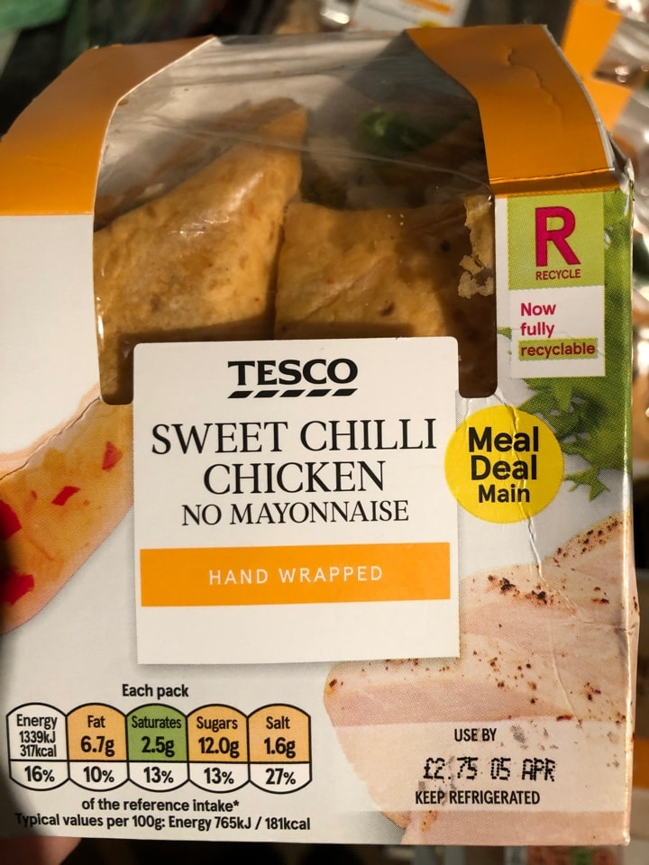 Tesco- sweet chilli chicken wrap  MUST BE COLLECTED TONIGHT