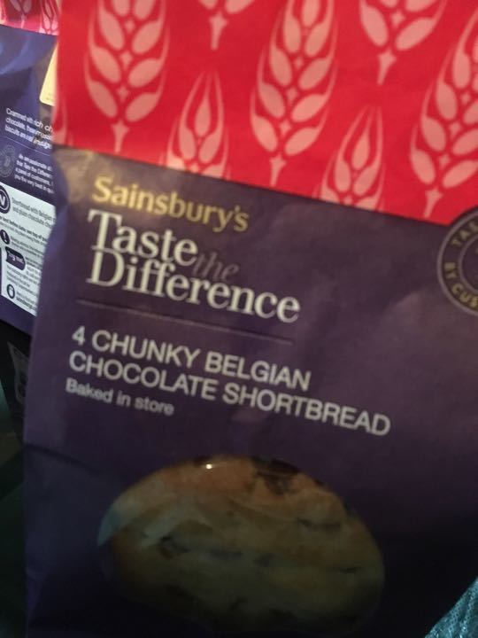 Chunky Belgian chocolate shortbread