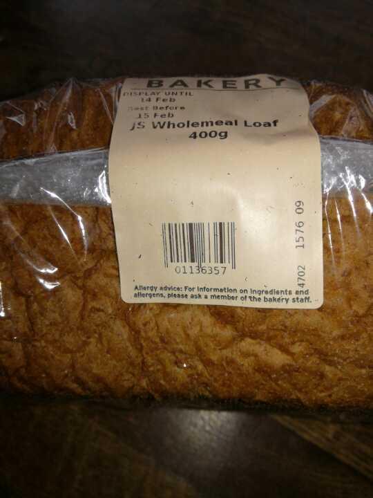 400g wholemeal loaf