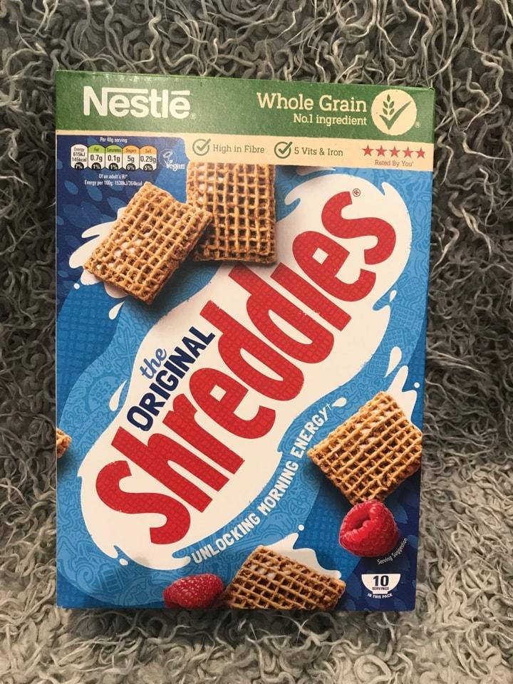 Shreddies breakfast cereal