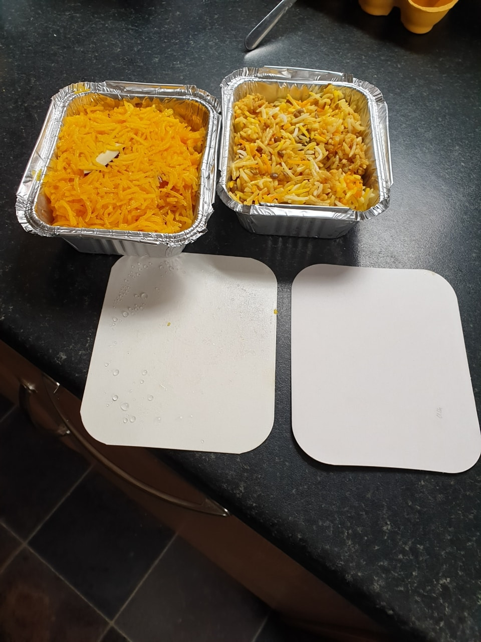 Portion of Sweet Rice (Jardoh)/ Spicy Biryani Rice