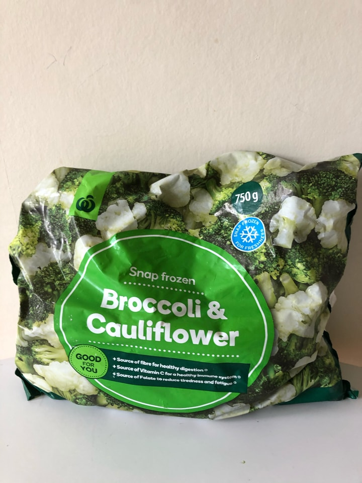 Frozen broccoli/cauliflower mix