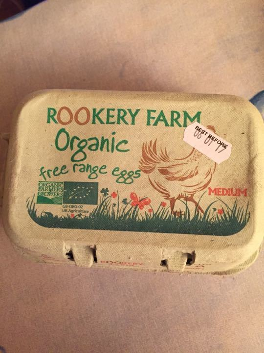6 boxes of Organic eggs (6 per box) Collected from Doree & Co