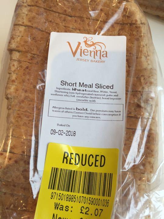 Short meal sliced