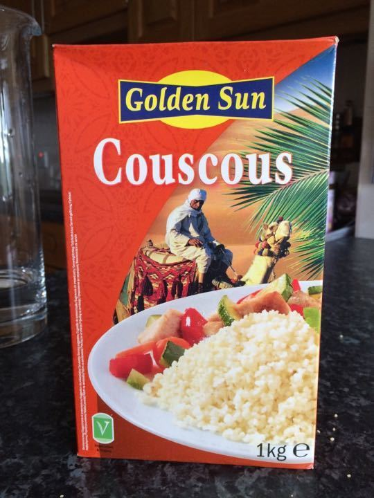 Unopened box of couscous