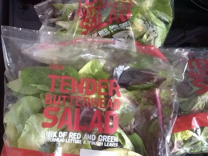 Tender salad leaves