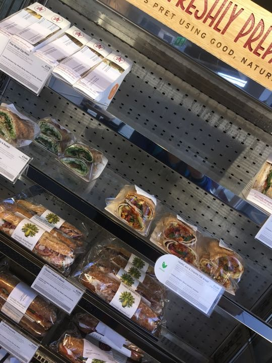 Selection of sandwiches, baguettes, wraps and flat breads!