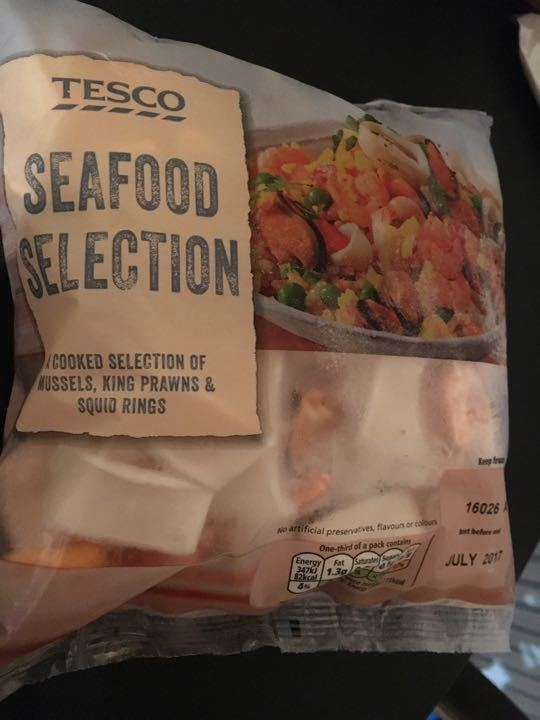 Frozen seafoods selection