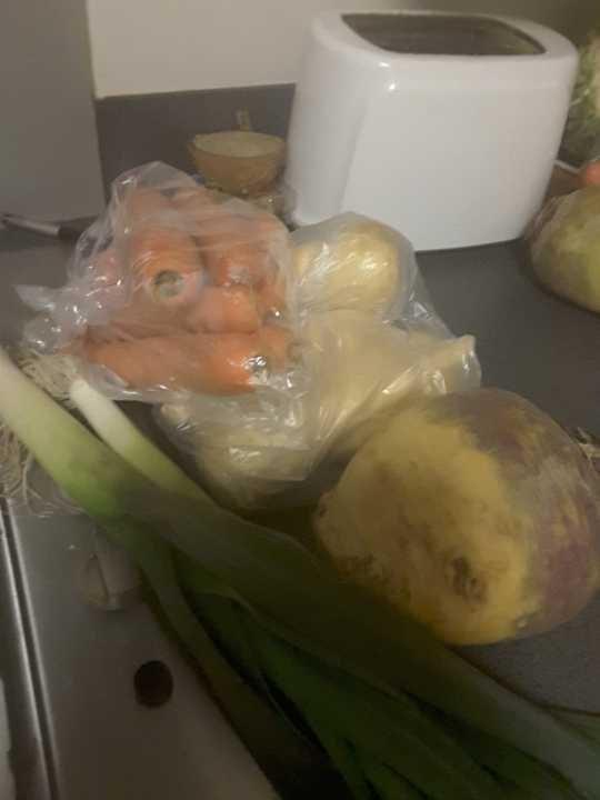 Carrots Swede parsnips leek