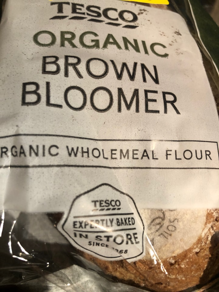 Tesco Organic brown bloomer