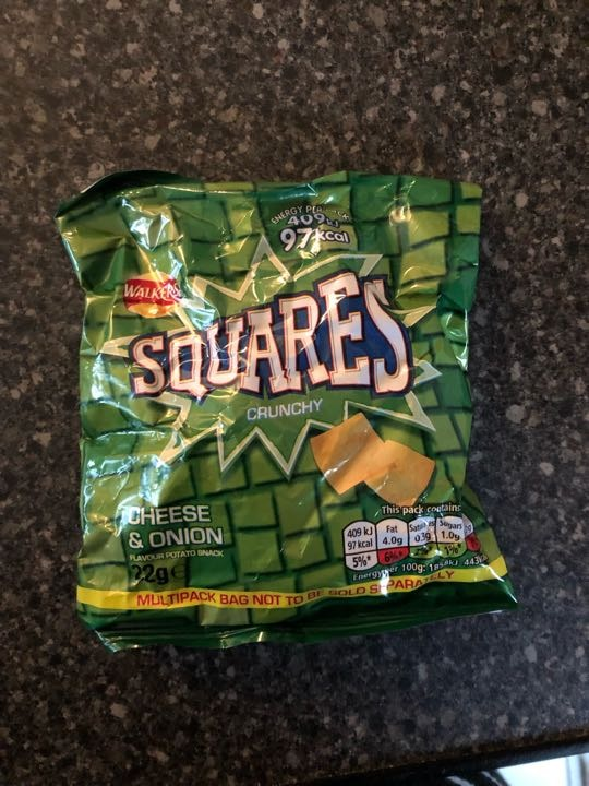 Walkers squares cheese and onion