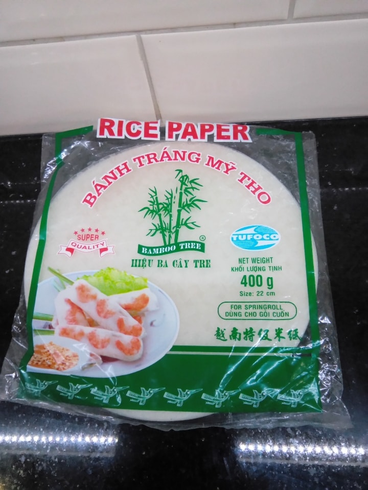 Rice paper open packet 6.2020