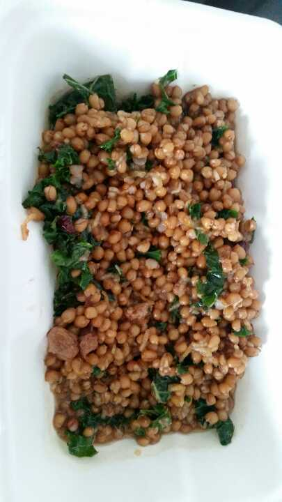 Wheat berry and kale salad from MOO