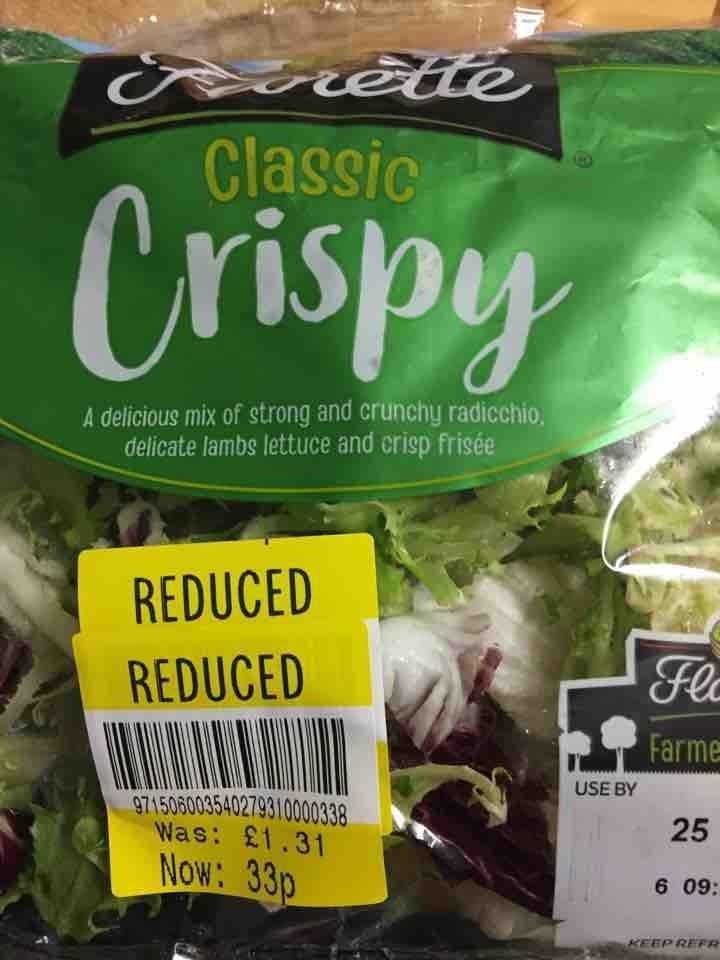 Classic crispy salad pick up by 10pm please