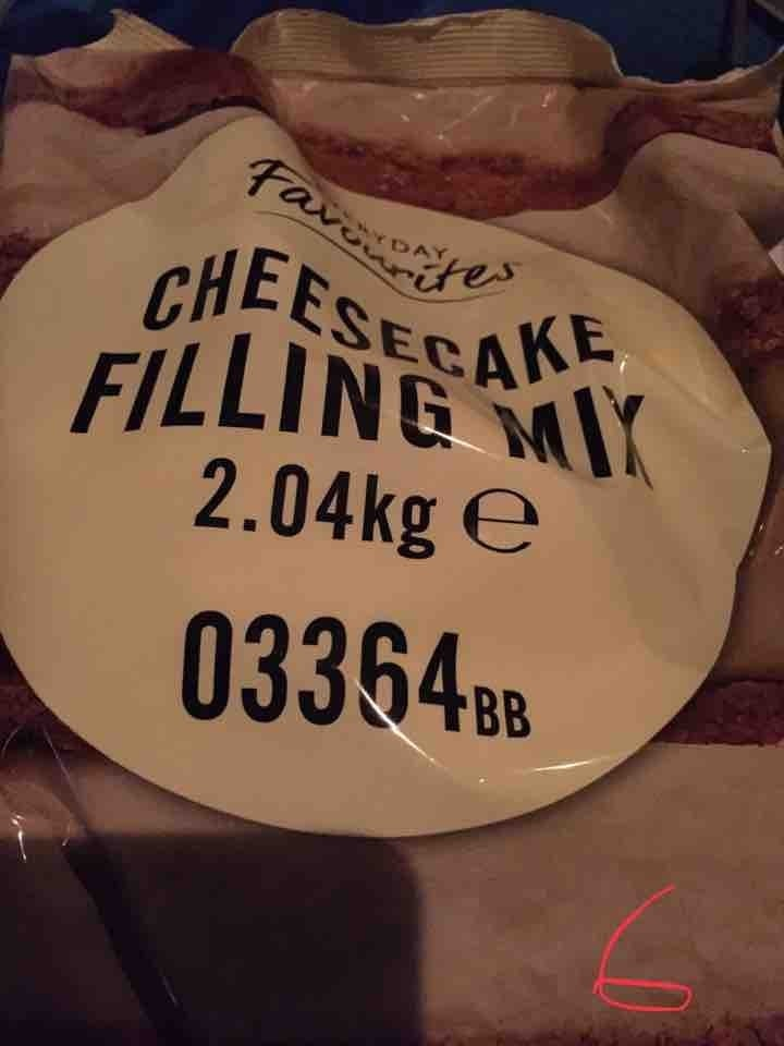 Large cheesecake filling mix