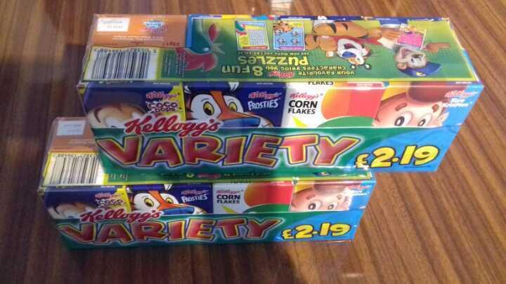 Kellogs variety pack x 2
