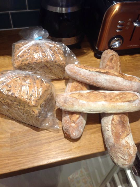 Fresh bread from bakery pick up