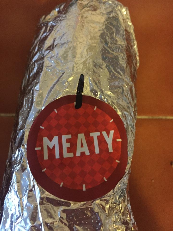 Meaty burrito