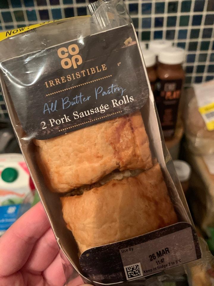 2 small sausage rolls