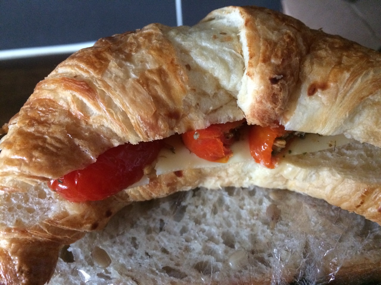 Fresh croissant from Caffe Nero Globen 7/9