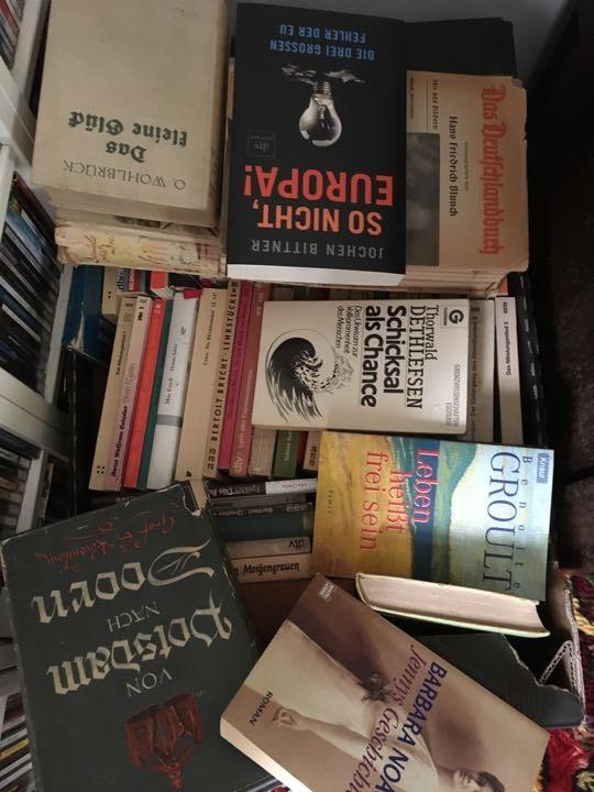 Large box of German novels.