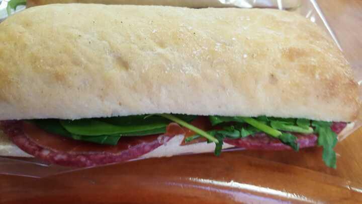 Salami Parma ham panini