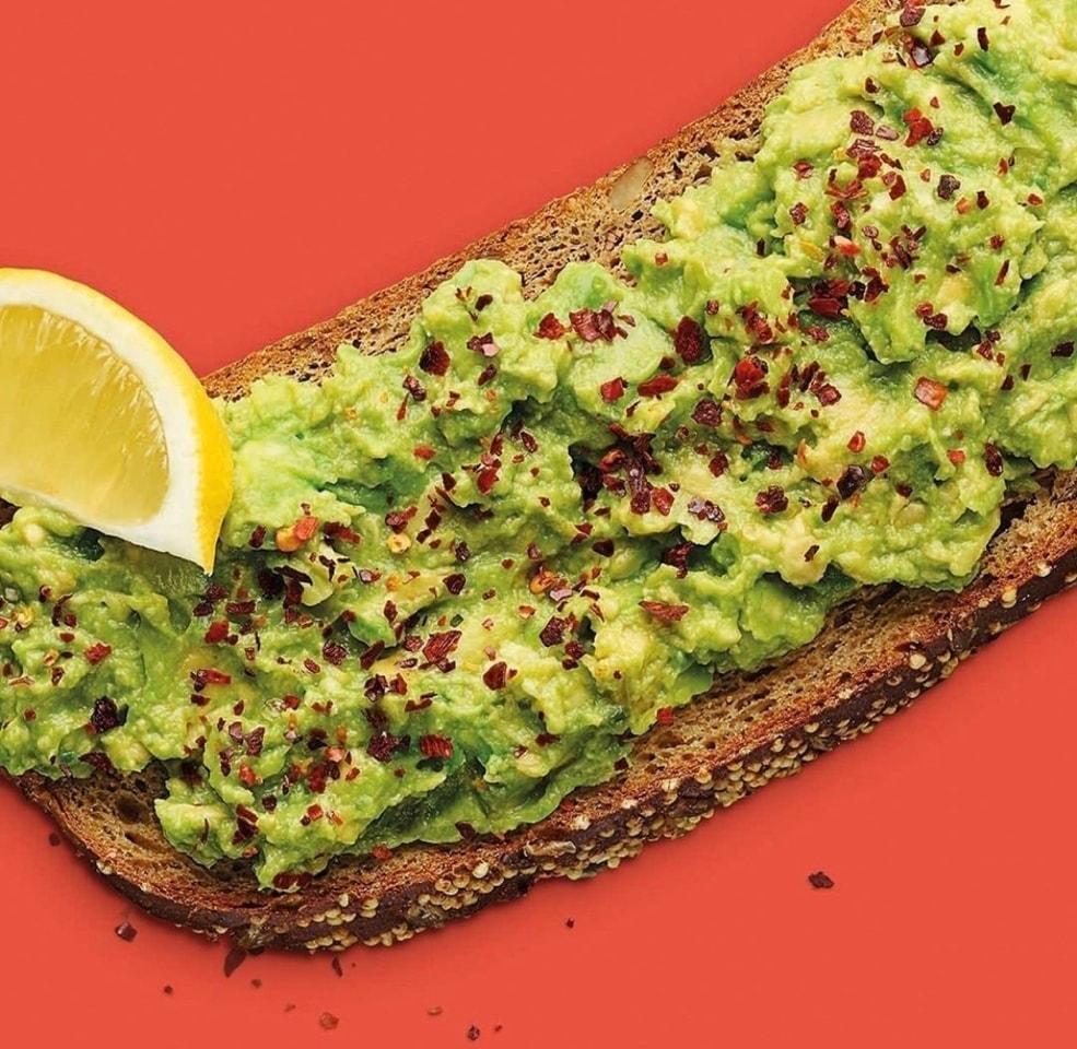 Pret - smashed avocado on gluten free bread