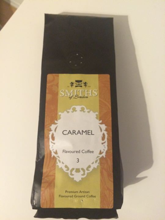 Caramel flavoured ground coffee