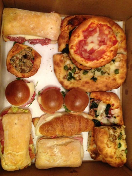 Pizza and sandwiches