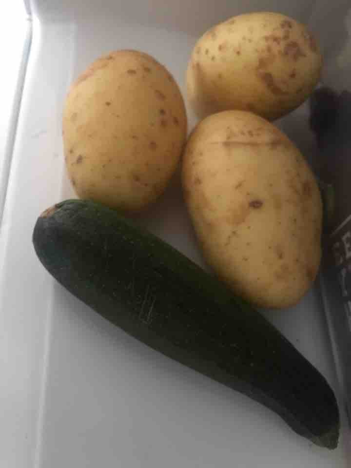 Good size potatoes x6+ courgette and possibly other veggies