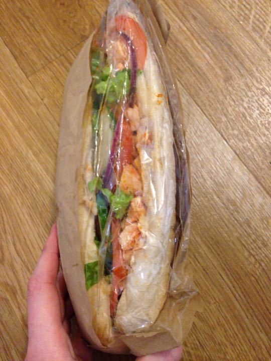 Chicken tikka baguette from Armstrong's