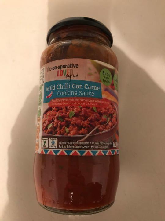 Co-op mild chilli con carne cooking sauce