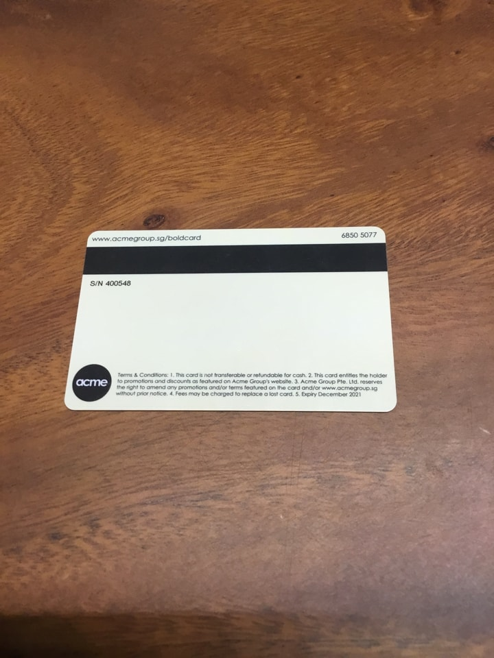 Bold Membership Card by Acme Group