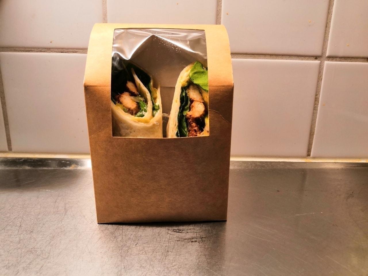Fresh Chicken Wrap (Chicken, Cream Cheese, Cashew Nut) from Barista Victoria Götgatan (13 Dec, 2019)