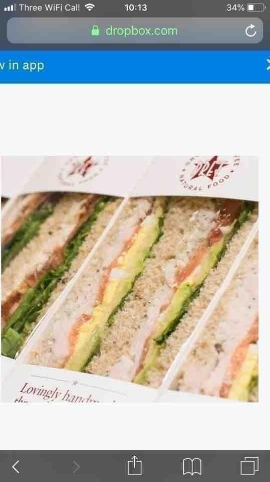 Prets tuna cucumber sandwich