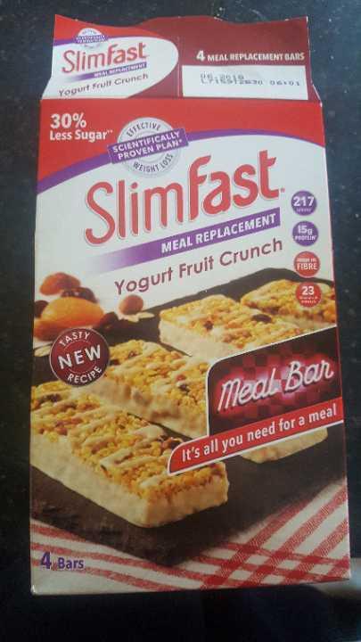 slimfast yogurt fruit crunch