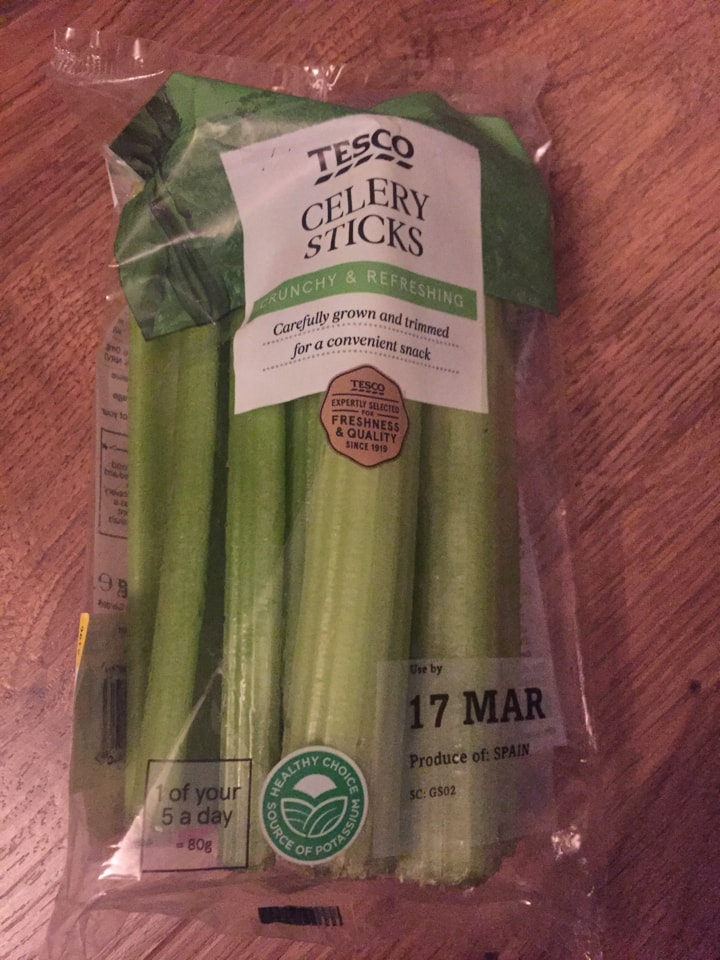 celery-  must be collected tonight
