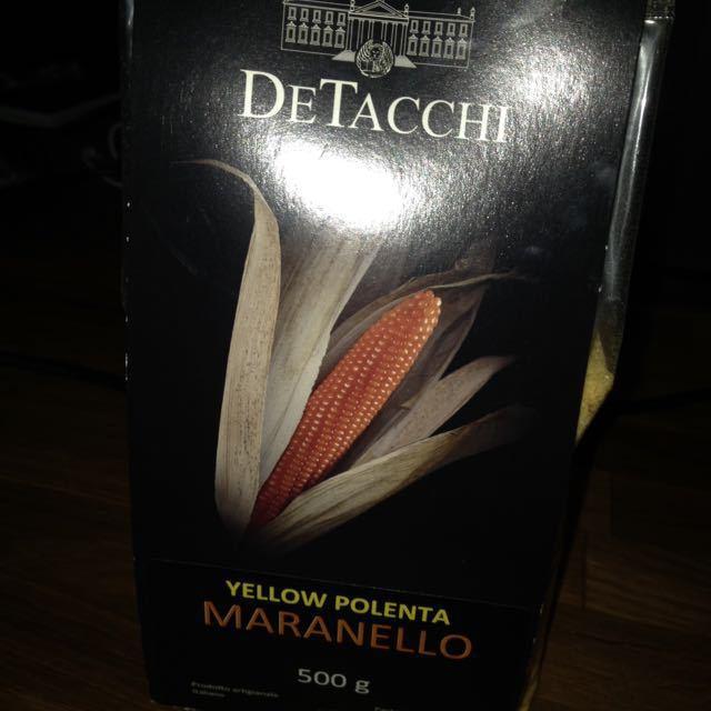 Unopened packet of polenta.