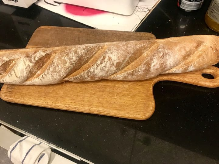 Fresh baguette from Pesso (26/02)