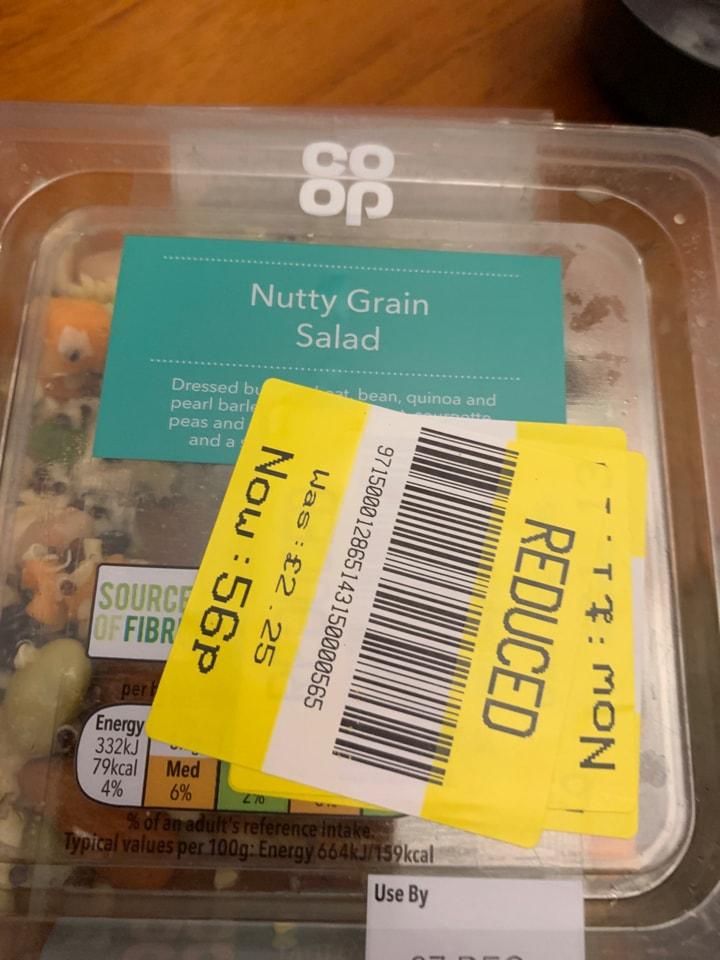 Nutty grain salad