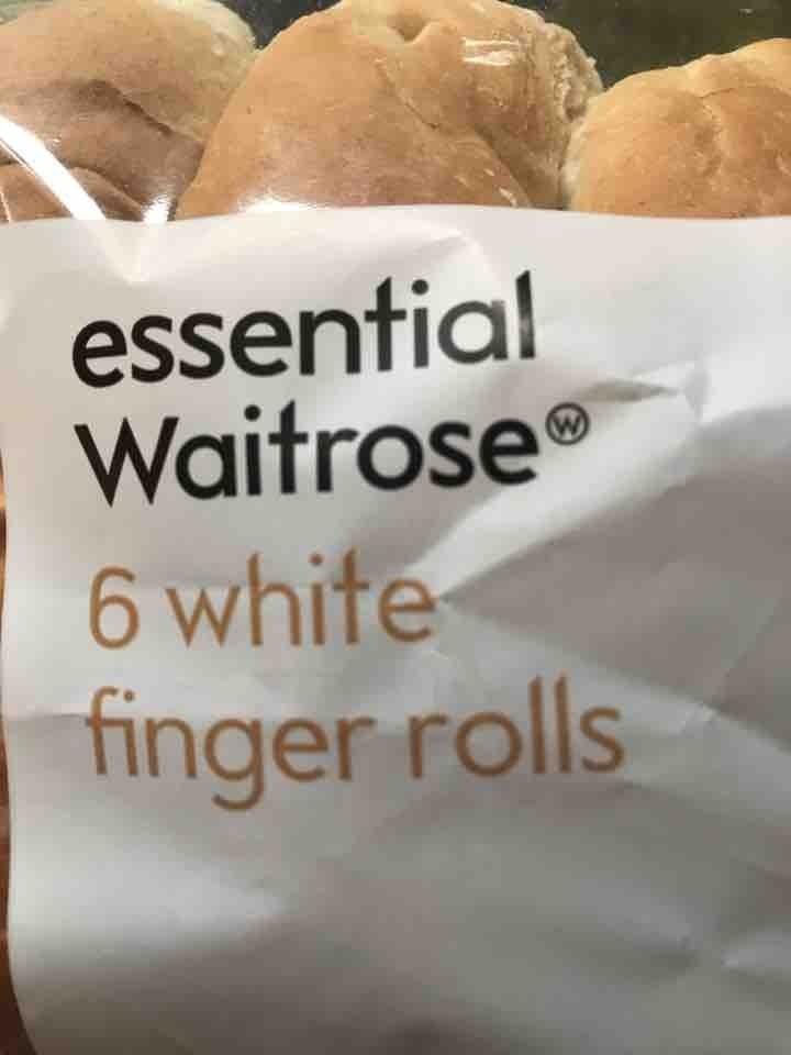 6 white finger rolls