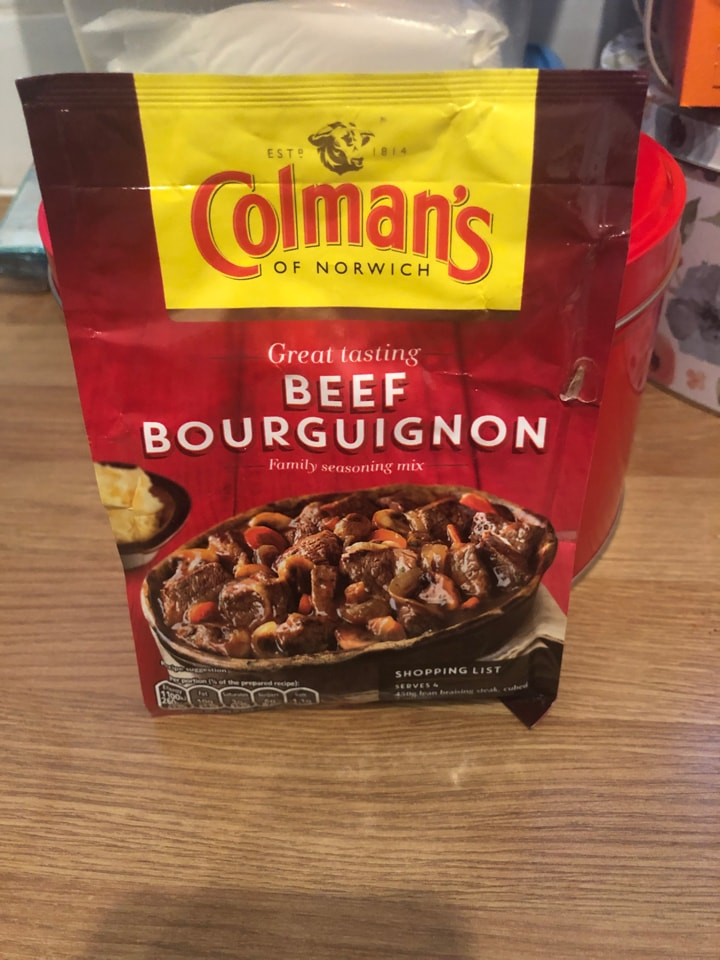 Beef Bourguignon seasoning mix sachet