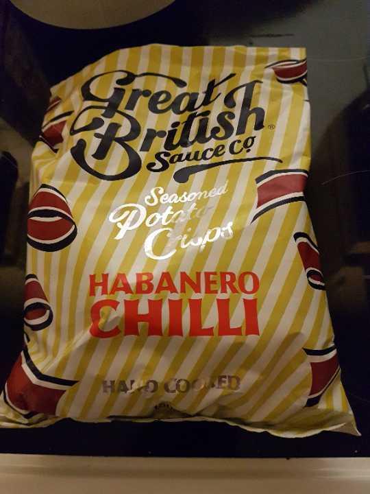 Habanero chilli crisps