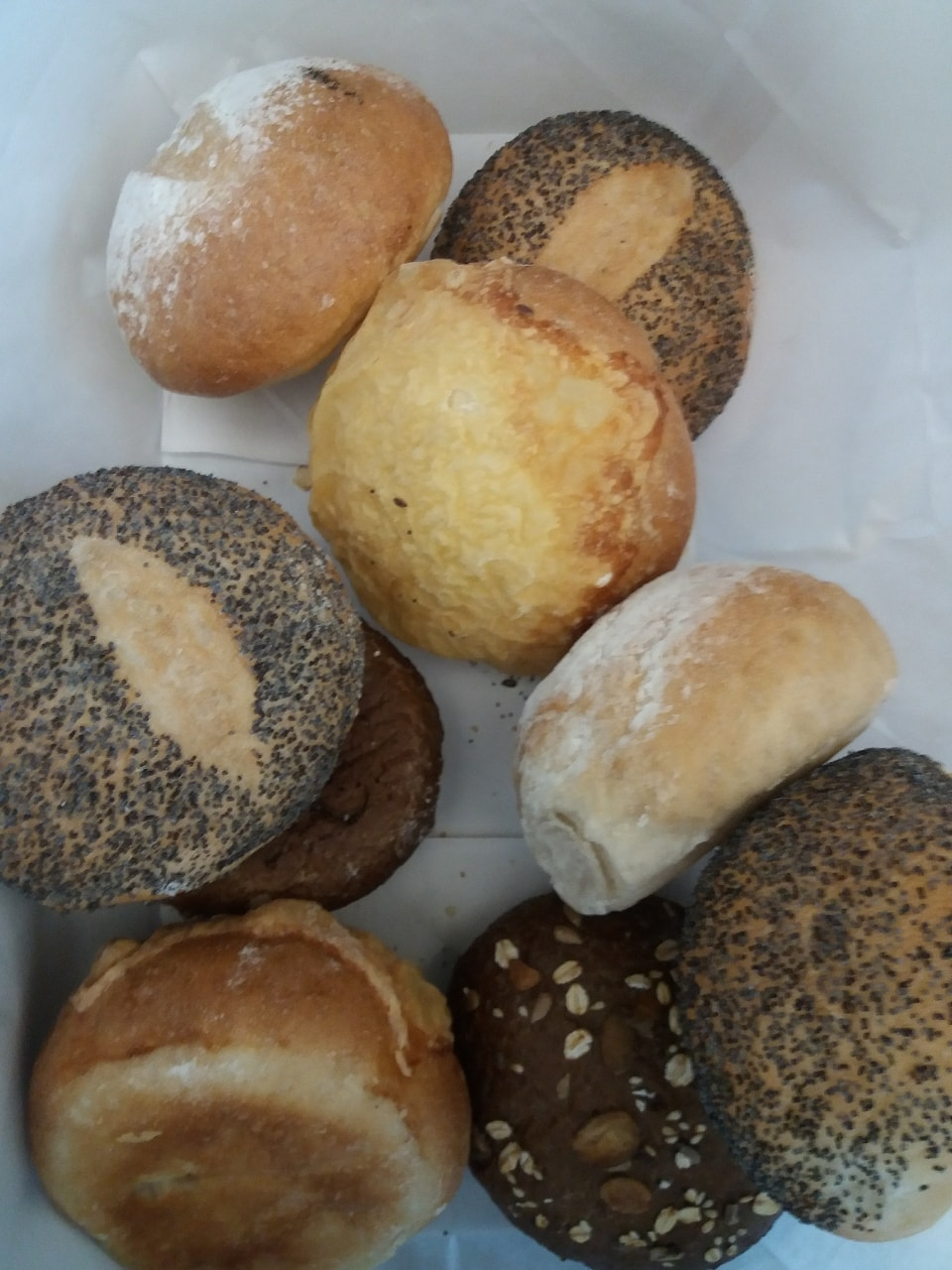 3x Bread buns from Pesso Bageri