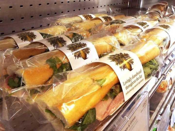 Pret baguette, sandwishes and salads