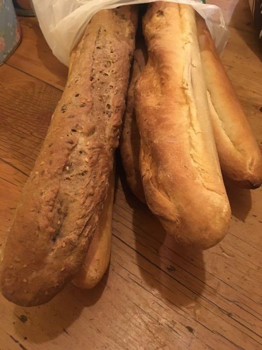 A few baguettes
